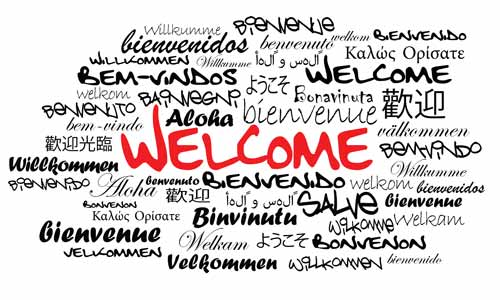 "Tag Cloud ""Welcome"""